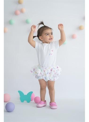 Nila Kids Butterfly Organik Kız Bebek Külot şort Beyaz